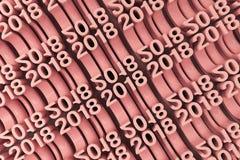 Net van rode Nieuwe 2018 Jaar cijfers stock illustratie