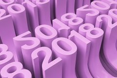 Net van violette Nieuwe 2018 Jaar cijfers stock illustratie