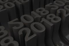 Net van zwarte Nieuwe 2018 Jaar cijfers Stock Afbeelding