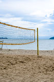 Net of volley ball on the beach Stock Photos