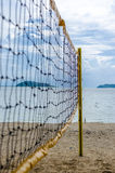 Net of volley ball on the beach Royalty Free Stock Image