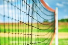 Net for volleyball. In summer sports park stock photo