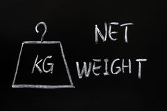 Net weight Royalty Free Stock Images