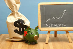 Net Worth Increase. A net worth increase for this statistical data report royalty free stock photos