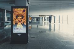Netaji Subhash Chandra博斯国际机场到来大厅新的终端  库存照片