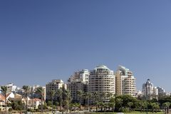 Netanya, Israel, view of the new modern district Stock Photo