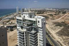 Netanya, Israel, view of the new modern district Royalty Free Stock Image