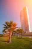 Netanya at sunrise royalty free stock photos