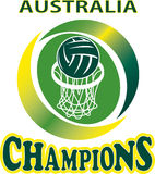 Netball Ball Hoop champions Australia Stock Image