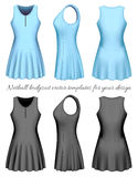 Netball bodysuit vector templates Royalty Free Stock Photos