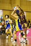 netball brouillé asiatique de championnat de 7ème action Photos stock