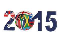Netball championship 2015 Australia concept Royalty Free Stock Photo