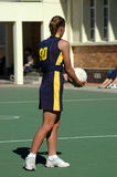 Netball girl Royalty Free Stock Images