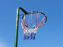 Netball goals. The sport of netball.  All year round Royalty Free Stock Image