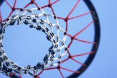 Netball net and hoop  Stock Image