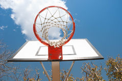 Netball net and hoop Royalty Free Stock Images