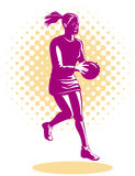Netball player Royalty Free Stock Photography