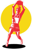 Netball player Stock Images