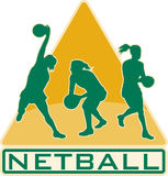 Netball Player Catching Pass Ball Royalty Free Stock Images