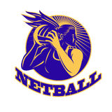 Netball Player Holding Passing Ball Royalty Free Stock Images