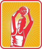 Netball player passing ball Royalty Free Stock Photo