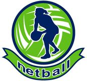 Netball Player Passing Ball Stock Photos