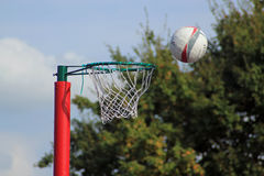 Netball shot Royalty Free Stock Photography