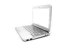 Netbook με το λευκό όργανο ελέγχου Στοκ φωτογραφία με δικαίωμα ελεύθερης χρήσης