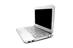 Netbook with black monitor Royalty Free Stock Photo