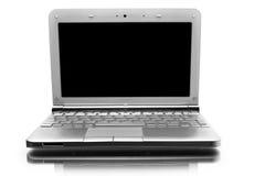 Netbook con il monitor nero Fotografie Stock Libere da Diritti