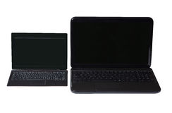 Netbook e computer portatile Immagine Stock