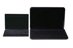 Netbook en laptop Stock Afbeelding