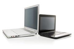 Netbook en notitieboekje Royalty-vrije Stock Afbeelding