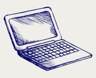 Netbook. Estilo do Doodle Fotos de Stock Royalty Free