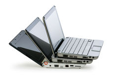 Netbook isolated on the white Stock Photo