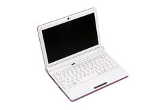 Netbook isolated on white Stock Photography