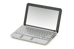 Netbook isolou-se Foto de Stock Royalty Free