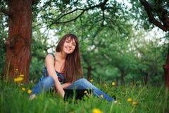 netbook kobieta Zdjęcie Stock