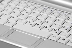 Netbook / Notebook keyboard. Typical Netbook (mini laptop) keyboard stock images