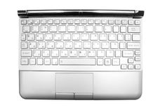 Netbook's keyboard. Isolated netbook's keyboard on a white background Royalty Free Stock Photography