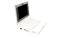 Netbook white. Netbook on the white background Stock Photography
