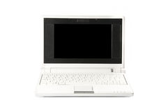 Netbook white. Netbook on the white background Royalty Free Stock Photo