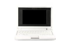 Netbook white. Netbook on the white background Royalty Free Stock Photo
