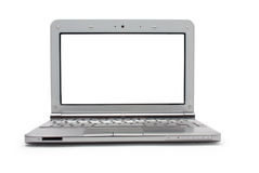 Netbook with white monitor Royalty Free Stock Photography