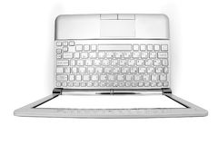 Netbook with white monitor Royalty Free Stock Photos