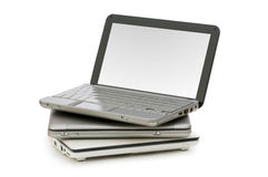 Netbooks isolou-se Foto de Stock Royalty Free