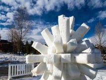 Netelig Sneeuwbeeldhouwwerk royalty-vrije stock foto's
