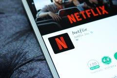 Netflix app fotografie stock