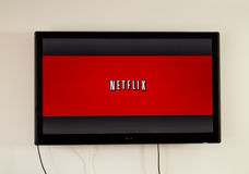 Netflix application on LG TV royalty free stock images