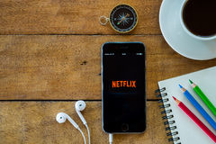 Netflix apps showing on iphone 6s royalty free stock images